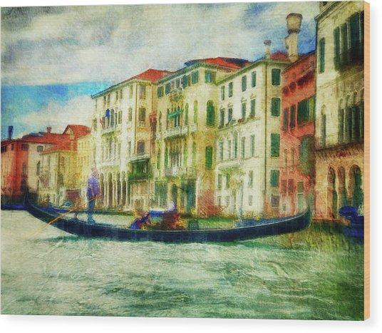 Gondola Ride Wood Print
