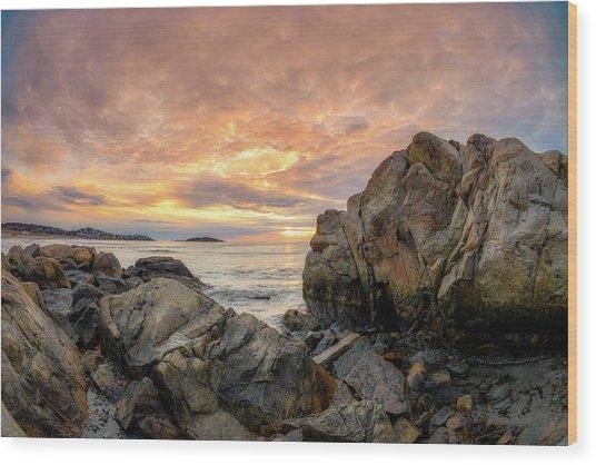 Good Harbor Rock View 1 Wood Print
