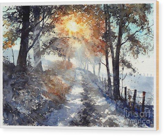 Good Morning Sun Wood Print