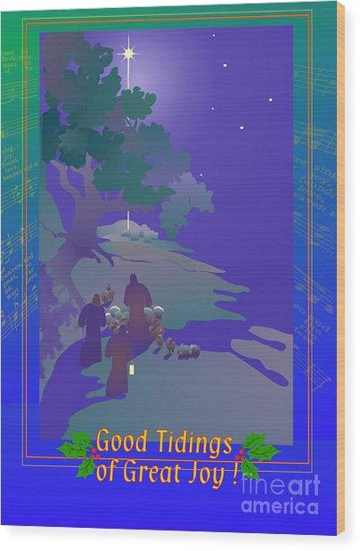 Good Tidings Wood Print