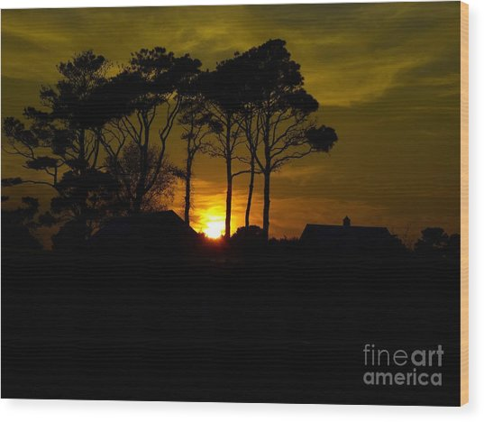 Goodnight Ocean City Wood Print