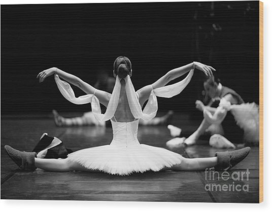 Gorgeous Ballerina Repeating Movements Wood Print