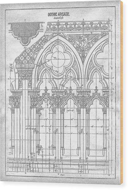 Gothic Arches Wood Print