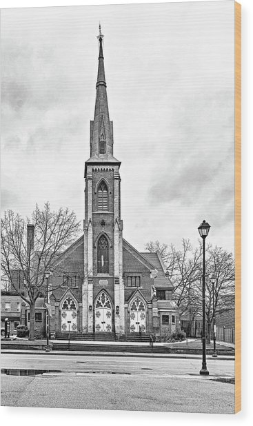 Grace Methodist Church 1888 Bw Wood Print