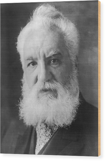 Graham Bell Wood Print by Topical Press Agency