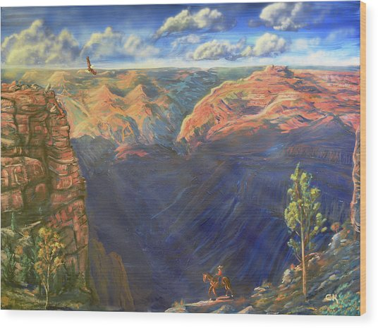 Grand Canyon And Mather Point Wood Print