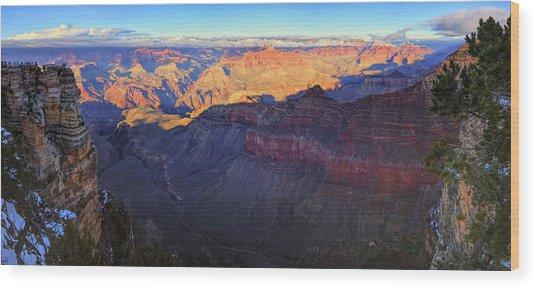 Grand Canyon Panorama Wood Print