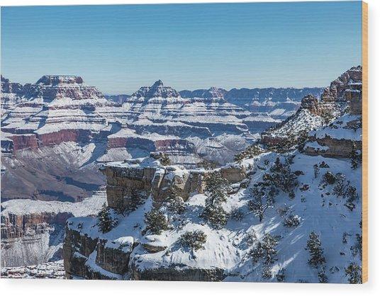 Grand Canyon Snow Wood Print