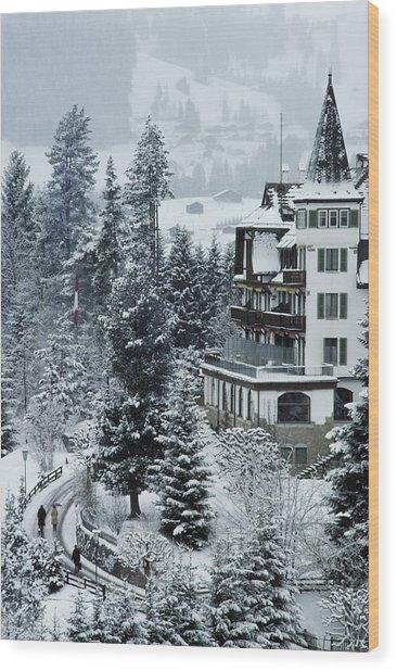 Grand Hotel Alpina Wood Print by Slim Aarons