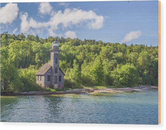 Grand Island East Channel Lighthouse Wood Print