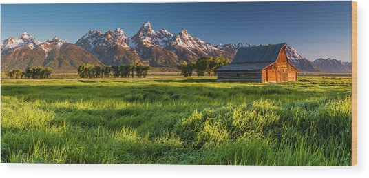 Grand Teton Np - Escaping The Crowd Wood Print