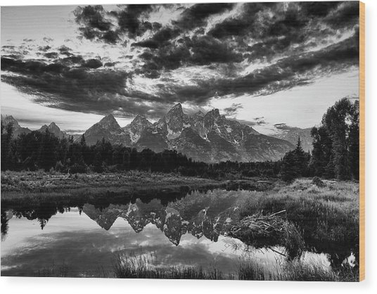 Grand Tetons, Wyoming Wood Print