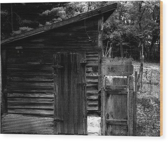Grandpa's Shed Wood Print