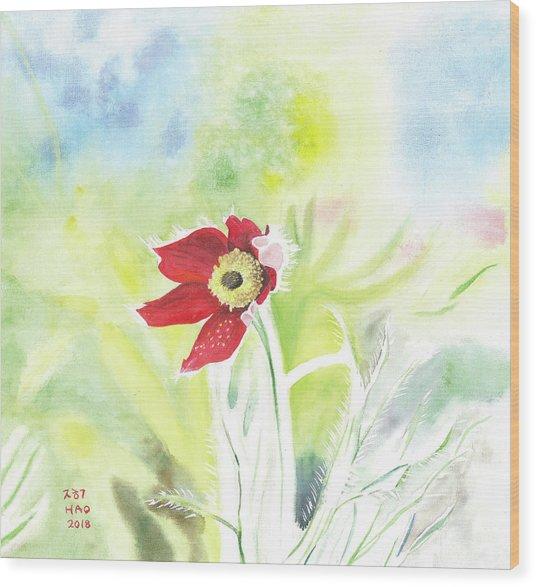 Granny Flower 3 Wood Print