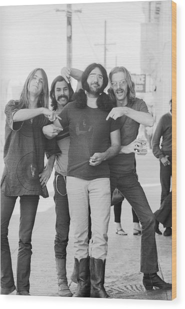 Grateful Dead Portrait Session In Sf Wood Print