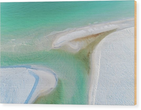 Grayton Beach Outfall #6 Wood Print