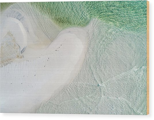 Grayton Beach Outfall #7 Wood Print