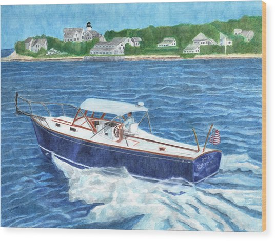 Great Ackpectations Nantucket Wood Print