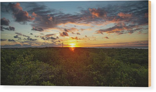 Great Exuma Sunrise Wood Print