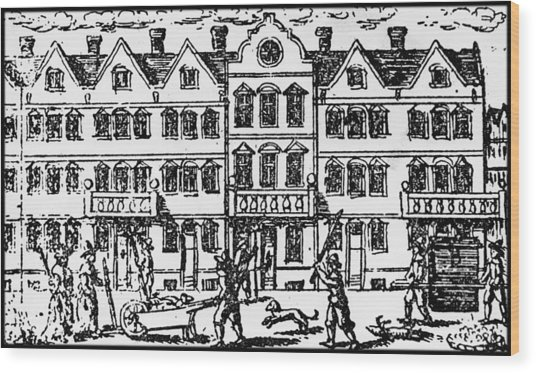 Great Plague Of London Wood Print by Hulton Archive