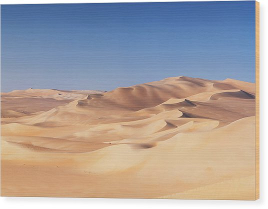 Great Sand Sea, Sahara Desert, Africa Wood Print by Hadynyah