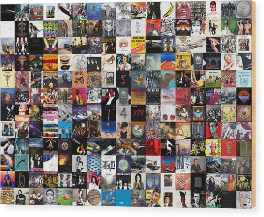 Greatest Album Covers Of All Time Wood Print