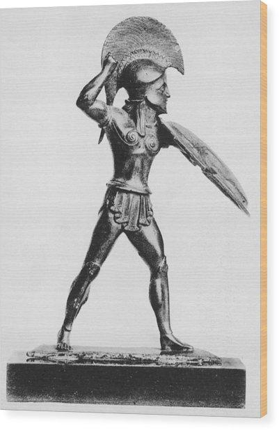 Greek Hoplite Wood Print by Hulton Archive
