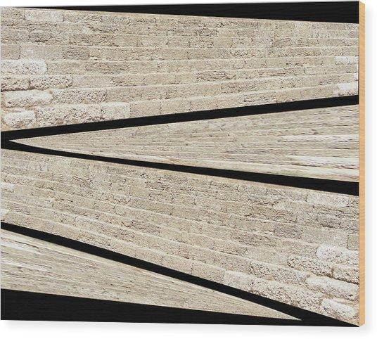 Greek Layers Wood Print
