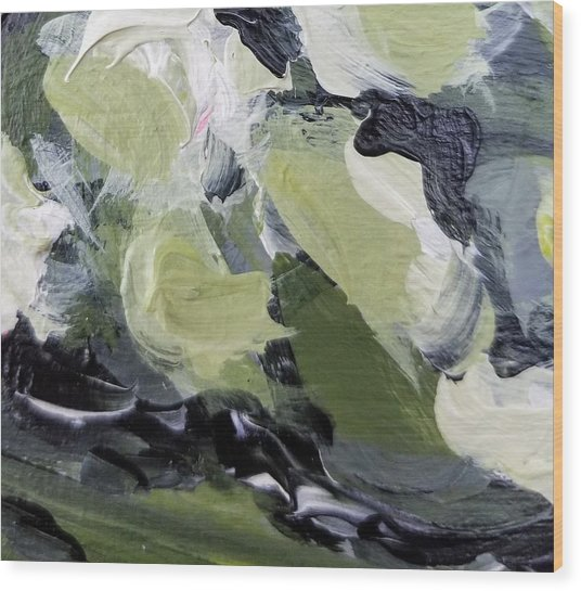 Wood Print featuring the painting Green #1 by Maria Langgle