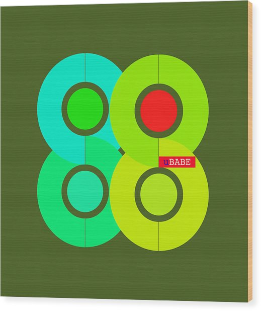 Green Style Wood Print