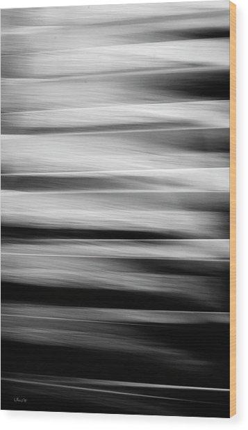 Abstract Waves Wood Print