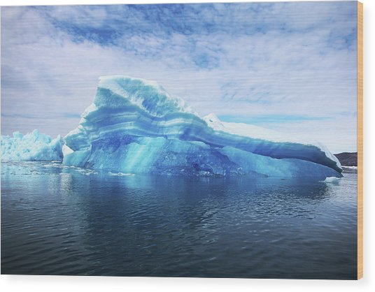 Greenland  A Laboratory For The Wood Print by Joe Raedle