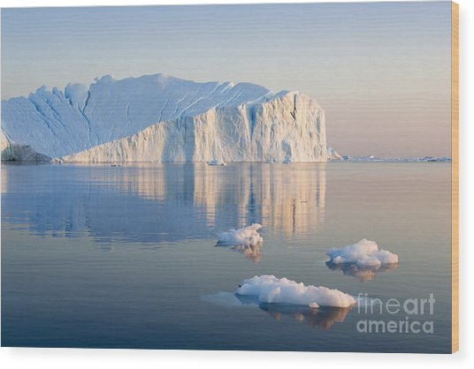 Greenland. The Biggest Glacier On A Wood Print