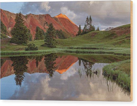 Grey Copper Gulch Wood Print