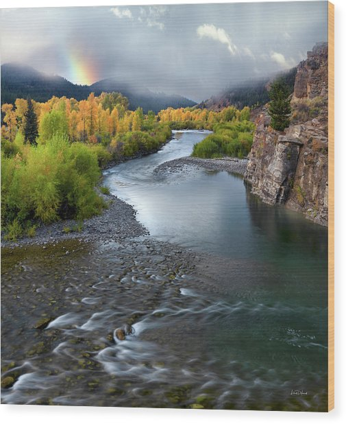 Wood Print featuring the photograph Gros Ventre Autumn by Leland D Howard