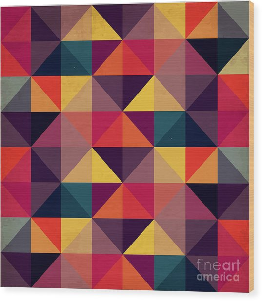 Grunge Colorful Seamless Pattern With Wood Print