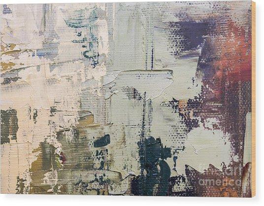 Grunge Oil Painting.  Oil Painting On Wood Print