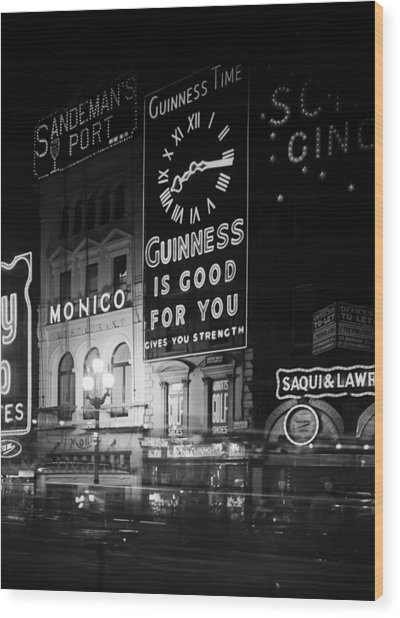 Guinness Time Wood Print by General Photographic Agency