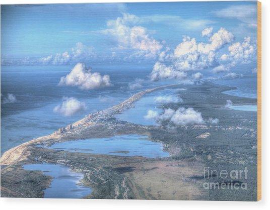 Gulf Shores-5094-tm Wood Print