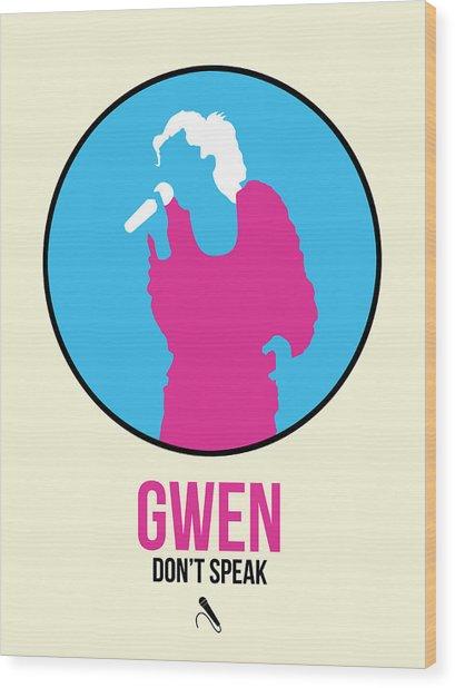 Gwen Poster II Wood Print