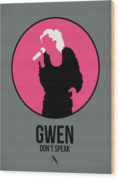 Gwen Stefani Wood Print
