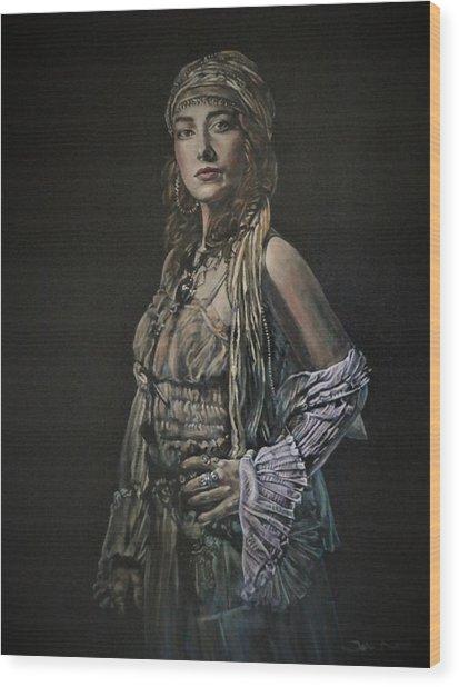 Gypsy Portrait Wood Print