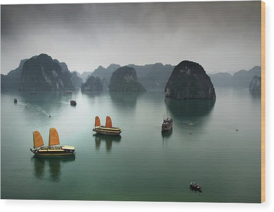 Ha Long Bay Wood Print by Copyright Mark Keelan