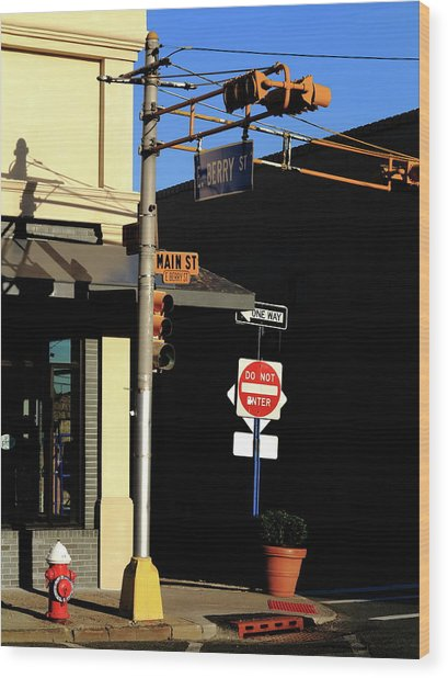 Hackensack, Nj - Berry And Main Streets 2018 Wood Print