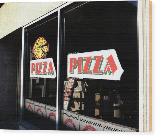 Hackensack, Nj -  Pizza Shop 2018 Wood Print