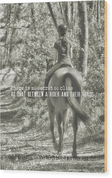 Hacking Quote Wood Print by JAMART Photography
