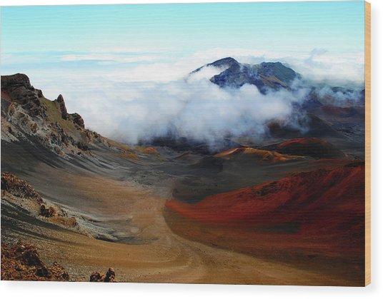Haleakala Crater Wood Print