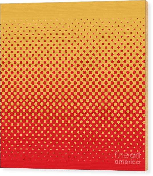 Halftone Vector Illustration Wood Print