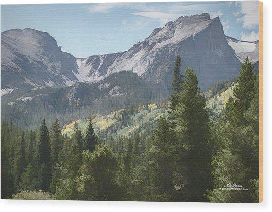 Hallett Peak Colorado Wood Print