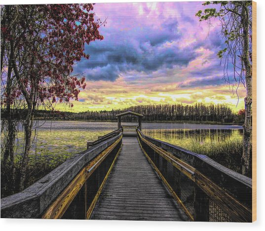Hammond Lake Wood Print